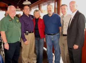 At the East County Albondigas luncheon, On The Border, November 6, 2009 (left to right): Warren Savage, Barry Jantz, Dianne Jacob, Rick Augustine, Jeff Collins, Brian Gray
