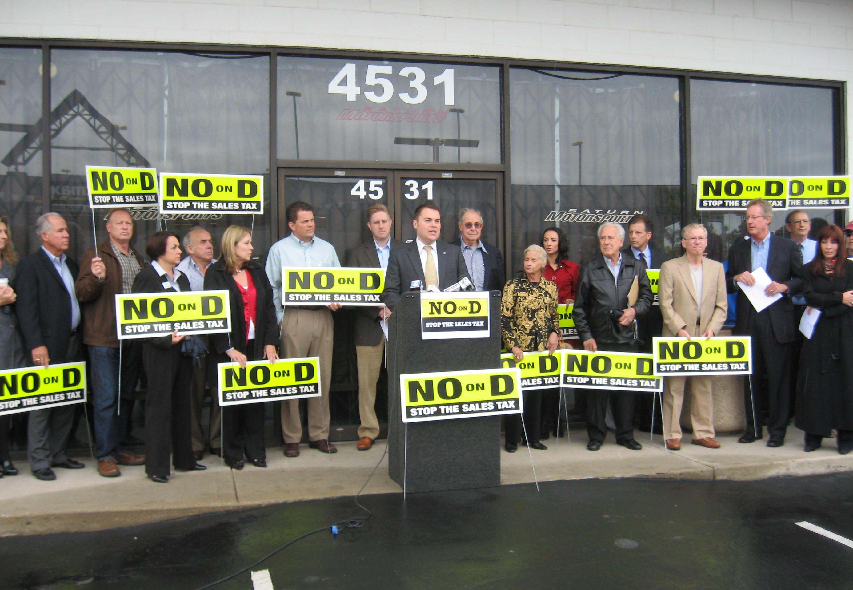 No On D Business Support News Conference, October 6, 2010