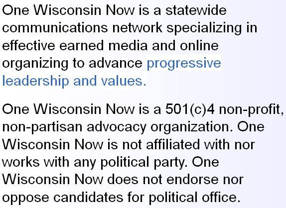 One Wisconsin Now