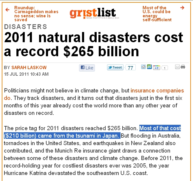 The scary facts from Grist on how climate change causes natural disasters