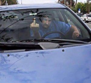 Tony Kranz giving the finger